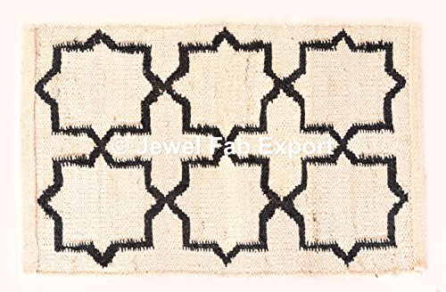Indische Baumwolle groß Kelim Teppich Diamond Muster Teppich Jute Teppich Pray Matte Handgemachter Namaz Teppich Boden Teppich Hand gewebt Jute Teppich Wohnzimmer Teppich Outdoor Teppich Läufer Teppich Jute Läufer creme Teppich