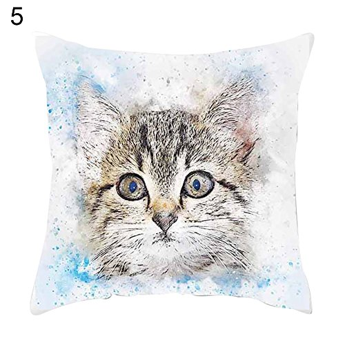 Goodtimes28Clearance Deals. Lovely Öl Bemalt Animal Katze Hunde Reißverschluss Kissen Fall Home Kissenhülle Decor, 5#, 5 (Clearance Queen-size-blatt-sets)