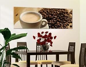 WTD 40964 Leinwandbild No.19 Espresso und Beans I 120 x 40 cm