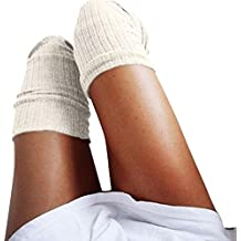 Fami donne lavorato a maglia sopra il ginocchio lungo Boot Coscia-Alti calzini caldi