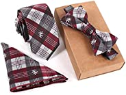 Men NeckTie Set Bowtie Slim Necktie high quality Slim Skinny Narrow Men Tie dress Handkerchief Pocket Square S