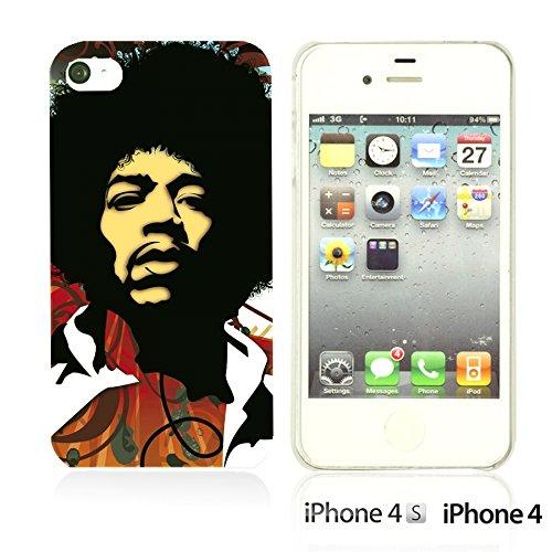 OBiDi - Celebrity Star Hard Back Case / Housse pour Apple iPhone 4S / Apple iPhone 4 - Marvin Gaye JIMI Hendrix