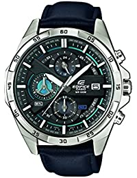 Casio Edifice Herrenuhr Analog Quarz mit Echtlederarmband – EFR-556L-1AVUEF