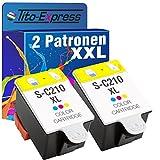 PlatinumSerie® 2x Patrone XL für Samsung INK-C210 CJX-1000 CJX-1050W CJX-2000FW