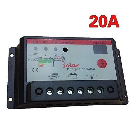 CoastaCloud-20A 12V 24V Pannello solare Regolatore di PWM di ricarica della scheda driver dual monitor via sistema di