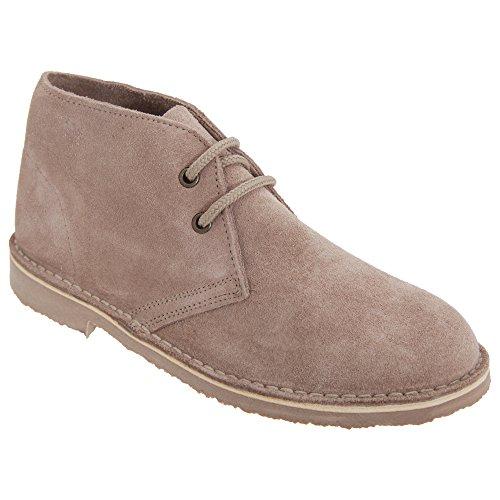 Roamers Damen Desert Boots/Wüstenstiefel/Schuhe, Wildleder, ungefüttert (39 EU) (Helles Taupe)