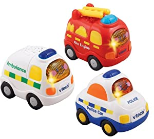 VTech Baby Toot-Toot Drivers Emergency Vehicles - Multi-Coloured, Pack of 3