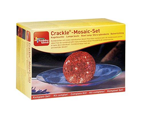 Glorex GmbH 6 2464 04 Creativset Crackle Mosaic Kugel, Spiel Glas-cracker