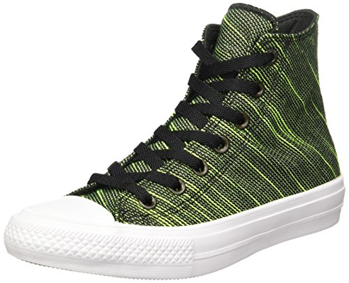 Converse Chuck Taylor All Star Ii C151086, Sneakers Hautes Mixte Adulte Black/Green/White