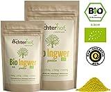 Bio Ingwerpulver (250g) | Ingwer gemahlen | Ingwerwurzel gemahlen perfekt fuer Ingwertee Ingwertinktur Ingwerwasser oder zum Kochen
