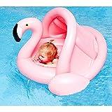 Flamingo Boot, Baby Swim Float, Kinder Aufblasbares Schwimmbrett Spielzeug für Badewanne und Pool, Flamingo Swim Ring Pool Float - Beliebt aufblasbar Baby Infant Schwimmen Spielzeug