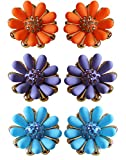 Colorful Befikare Stud Earrings in Flowe...
