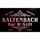 u22513-r KALTENBACH Family Name Bar & Grill Home Beer Food Neon Sign Enseigne Lumineuse