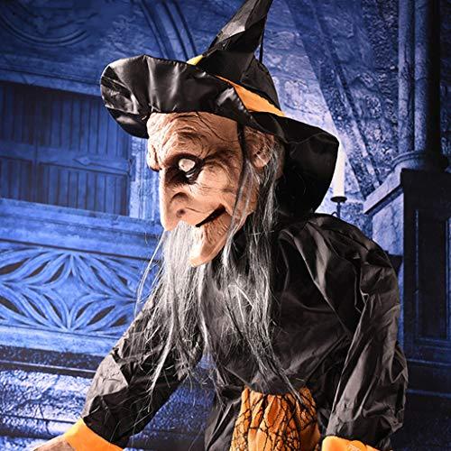 en Geist Hexe Charme Halloween Leuchtenden Schädel Spukhaus Dekoration Lieferungen Beleuchtung Requisiten ()