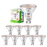 Liqoo 10er 5W GU10 LED Lampe LED Birne LED Strahler AC 85-265V Warmweiß 2800K 80Ra kein Strobo Ersetzt 40W Halogenlampe 420 Lumen 120° Abstrahwinkel