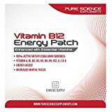 Pure Science Transdermal Vitamin B12 Patches 5000mcg Methylcobalamin enhanced with Essential Vitamins B3, B5, B6, B2, B1, B9, E, A, K and D for Energy, Mental Clarity and Well Being - 6 Weeks Supply by Pure Science