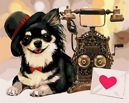 YDPTYANG Erwachsene Puzzle Hölzernes 1000 Stück Telefon Und Hund Kinder Amateur Art Spiels Creative Spielzeug Puzzles -
