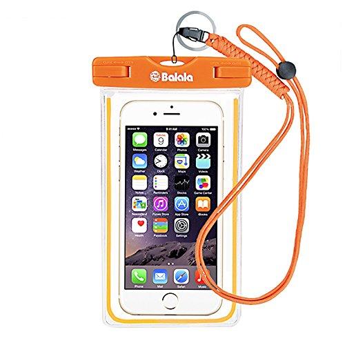 Balala Wasserdichte Tasche IPX8 Hülle Beutel Unterwassertasche Bauchtasche bis 15,24 cm (6 Zoll) für iPhone 7 Plus, Handy, Kamera, iPad, Bargeld (6-zoll-kamera-tasche)