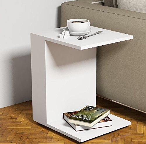 JOUR Tavolino basso da salotto con ruote - Bianco - materiale in ...