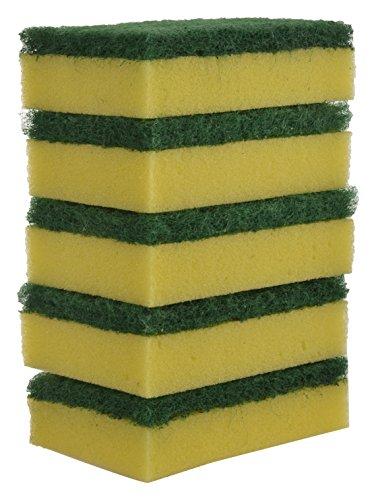 Brite Guard Polyester Multipurpose Scrub Sponge (Green, 30-Piece)