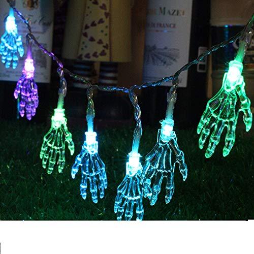 kor 1,2 Meter, 10 Blubs Schädel Handlicht LED Lichter Halloween Dekoration Für Garten / Urlaub / Indoor / Outdoor / Party ()