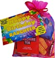 Happy Birthday Daughter Card with a Range of Tasty Sweets Shortbread Tea Coffee Gift / Present idea from Mum and or Dad by Send Smiles Miles
