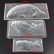 Carp Cyprinoid peces 3d para tarta Chocolate molde Jelly Sugarcraft molde herramienta cocina, otros, As show in pic, Medium
