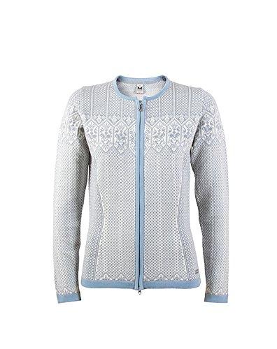 Dale of Norway - Veste pour femme Sigrid, couleur gris chiné/blanc cassé/ bleu glacé Gris - Grey Mel/Off White/Ice Blue