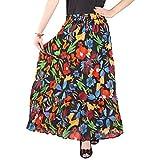 #9: Cotton Breeze Women's Long Skirt (FP362_Multi-Coloured_Free Size)