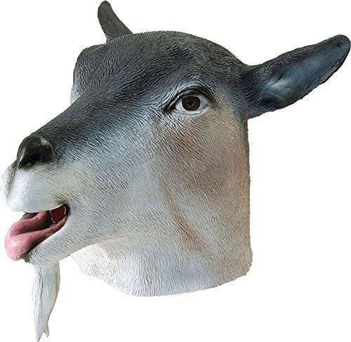 Erwachsene Karneval Dschungel Party Halloween Weihnachten Weihnachten Tier Clubwear Cosplay Maske - Ziege, One (Pferd Kuh Kostüm)