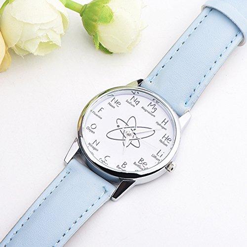 COOKDATE Damen Armbanduhr Leuchtende Nacht Wasserdicht Quarzwerk D