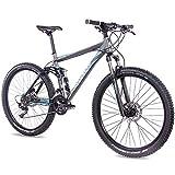 CHRISSON 27,5 Zoll Mountainbike Fully - Hitter FSF grau blau - Vollfederung...