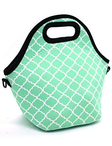Case Wonder Lunch Taschen, Neopren Lunchtasche Kühltasche Isoliert Kühler Mittagessen Tasche, Wiederverwendbare Wasserdicht Isoliert Mittagessen Bauscht mit Schultergurt (Hot blau) -
