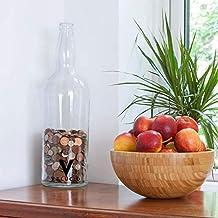 Botella de monedas de vidrio vintage de 20