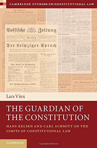 The Guardian of the Constitution: Hans Kelsen and Carl Schmitt on the Limits of Constitutional Law (Cambridge Studies in Constitutional Law) by Lars Vinx (Translator) � Visit Amazon's Lars Vinx Page search results for this author Lars Vinx (Translator) (19-Feb-2015) Hardcover