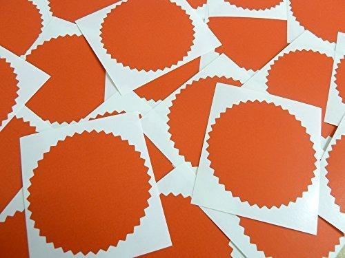 64 mm Wellenschliff, rot Matt, Klebeetiketten, Klebeetiketten, Anzeichnungen & Belohnungen