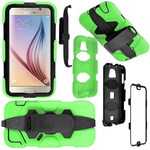"""Monde de mobile®-antichoc robuste Garde Builders Coque avec clip ceinture et protection d'écran intégrée, vert, Apple IPhone 6+ Plus 5.5"""""""
