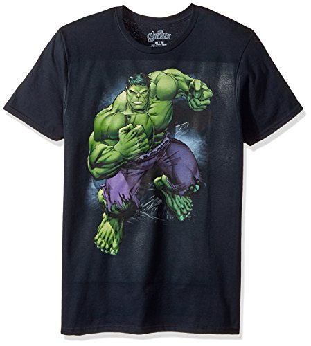 Marvel Men's Hulk in Action Short Sleeve Graphic T-Shirt