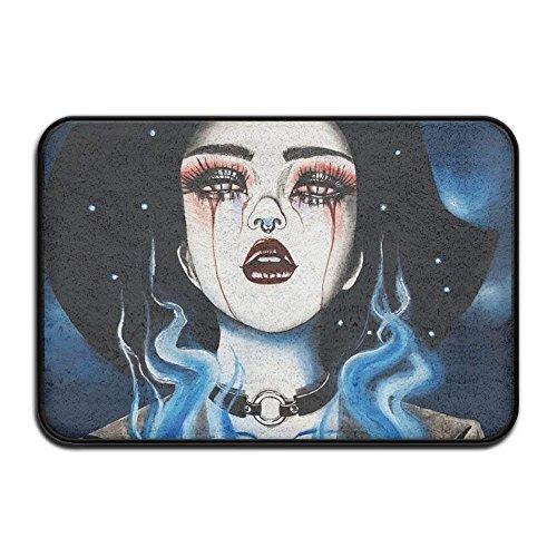 Smart Dry Memory Foam Bath Kitchen Mat for Bathroom - Goth Gotik Gothic Women Girl Art Shower Spa...