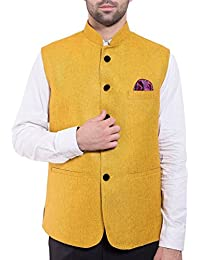 Wintage Men's Rayon Bandhgala Festive Nehru Jacket Waistcoat- Available in 18 colors