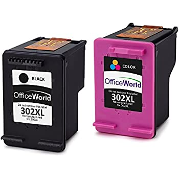 gohepi remanufactured hp 302xl 302 ink cartridges 1 black 1 tri color 2 pack compatible with hp. Black Bedroom Furniture Sets. Home Design Ideas