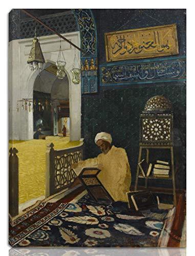 Berkin Arts Osman Hamdi Bey Gedehnt Giclee Auf Leinwand drucken-Berühmte Gemälde Kunst Poster-Reproduktion Wand Dekoration Fertig zum Aufhängen(Kur'An Tilaveti rezitiert den Koran) #NK