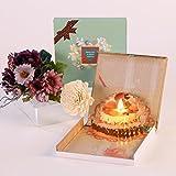 3D Pop-Up Geburtstag Karte,Kreative Handwerkliche Geburtstagskarte,um Ihre Liebe zu Freunden und Familie auszudrücken,Flammenlose Kerzen,Geschäftsgrüße / Valentinstag / Jahrestag / Muttertag Kuchen Karte (Blau)