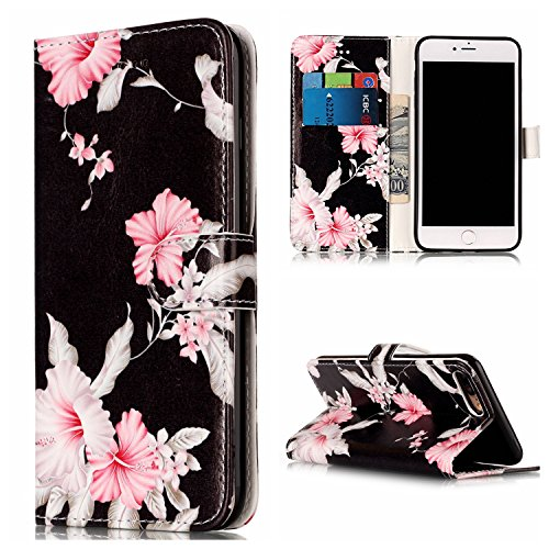 GR Premium PU Leder Brieftasche Case Cover für Apple IPhone 7 Plus, Horizontale Flip Case Cover Luxus Blume / Marmor Textur Fall mit Magnetverschluss & Halter & Card Cash Slots ( Color : G ) G