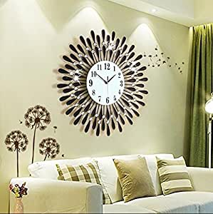 horloge murale europ enne horloge murale horloge murale d corative de salon horloges. Black Bedroom Furniture Sets. Home Design Ideas