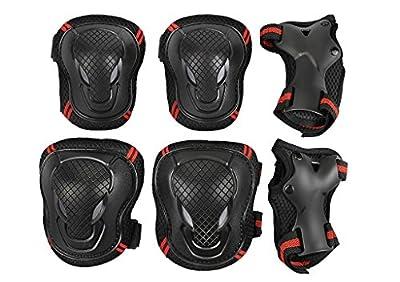 Neu Damen Herren Protektoren Set Schützer Set 6pcs Knieschoner Ellenbogenschützer Handgelenkschoner für Kinder und Jugendliche