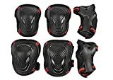 Teens Students Knee Elbow Wrist Braces Pads Set Reflective Adjustable Collision Avoidance Skate