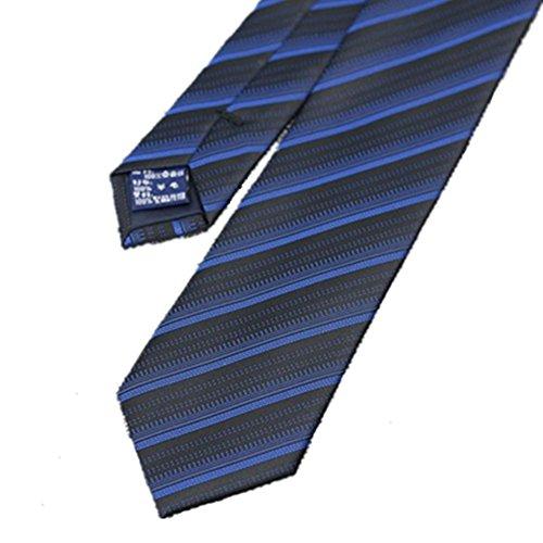 Krawatten und Fliegen für Boutique Bright Blue Stripes Silk Tie Männer formelle Kleidung Business Wear Silk Krawatte Krawatten und Fliegen für Blue Stripe Bow Tie