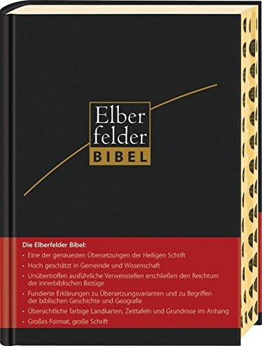 Elberfelder Bibel - Großausgabe, Leder, Goldschnitt mit Registerstanzung