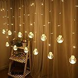 TISCH LAMPE LED Vorhang Licht transparent wünschen Ball Licht Innen Schlafzimmer Zimmer hängen Lichter Hochzeit Neujahr Weihnachtsbeleuchtung